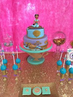 Princess Jasmine birthday party! See more party ideas at CatchMyParty.com!