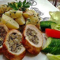 Egy finom Gombás tojással töltött csirkemell ebédre vagy vacsorára? Gombás tojással töltött csirkemell Receptek a Mindmegette.hu Recept gyűjteményében! Cheesesteak, Healthy Cooking, Camembert Cheese, Potato Salad, Pork, Potatoes, Ethnic Recipes, Meat, Kale Stir Fry