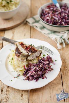Pierś z kurczaka w szynce szwarcwaldzkiej z pesto Pesto, Cabbage, Vegetables, Recipes, Food, Essen, Cabbages, Vegetable Recipes, Eten