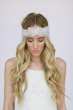 Wedding Head Piece Headband Crystal Rhinestone by ThreeBirdNest, $248.00