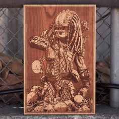 SpaceWolf, an Amirican wood worker, creates highly detailed laser engraved wooden posters, unlike you ever seen before.