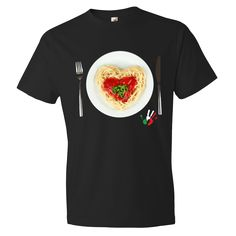"""I Love Italian Spaghetti!"" short sleeve t-shirt"