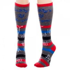 28c8d08d9 DC s Suicide Squad Movie Harley Quinn Daddy s Little Monster Knee High Socks