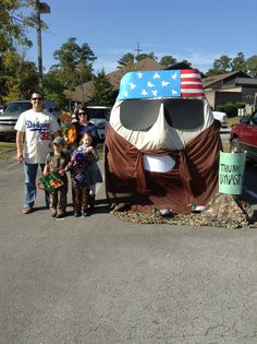 """Our Duck Dynasty themed car decor for """"trunk or treat"""" at church. We won the contest!"""