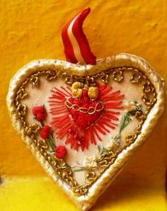 Embroidered Sacred Heart ༺♥༻