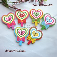 Random Mixed Colorful Lollipops Craft Embelishment Sewing Scrapbooking buttons 24mm*30.tmm