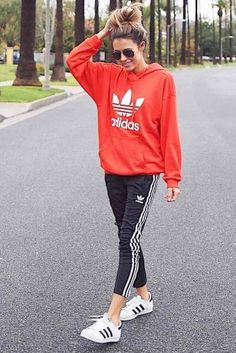 Adidas Pants Outfit Ideas: Super Combo Of Comfort And Beauty ★ See more: http://glaminati.com/adidas-pants-outfit-ideas/