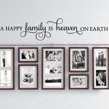 A Happy Family Is Heaven Wall Quote $22.00 www.decalmywall.com