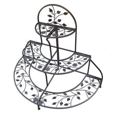 3-Tier Foldable Plant Stand, Brown Oth