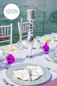 Summer days by the lake! #silvercandleholder #pinkydecorations
