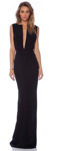 Women's fashion | Elegant black maxi dress - more dresses, pink and gray dress, black party dresses *ad