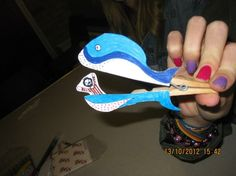 Jonah and the whale big fish - peg craft idea  (thanks to St Saviour's Messy Church, UK)