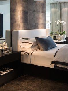 black trim linen Mexico City Apartment - Marble Entry via Michael Dawkins Interios