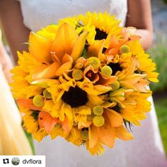 Glad you like them!! They were stunning!! #Repost @dvflora with @repostapp ・・・ Wow! Big thanks to @mondayflowers for sharing some beautiful #california #sunflower photos from a recent wedding!