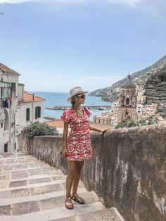 Admiring the view over Amalfi