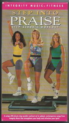 Step Into Praise Aerobic Exercise Video VHS Integrity Music Vintage Tape