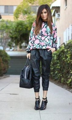 Look: Leather Jogging Pants