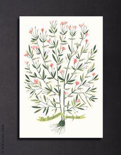 AZALEA Family Tree 3 or 4 generations PERSONALIZED by evajuliet