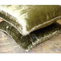 16x16 Decorative Olive Green Sofa Cushion Cover | Etsy Green Pillow Cases, Green Pillows, Throw Pillow Cases, Couch Cushion Covers, Couch Cushions, Pillow Covers, Sofa Bed, Velvet Couch, Velvet Pillows