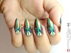 egyptian themed nail art