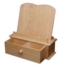 Cookbook Stand and Recipe Card Box