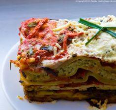 Vegetable Lasagna! Ricotta Nut Cheese. Marinated Tofu.