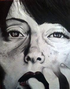 """Saatchi Online Artist Valentina De Chirico; Painting, """"Hurt"""" #art"""