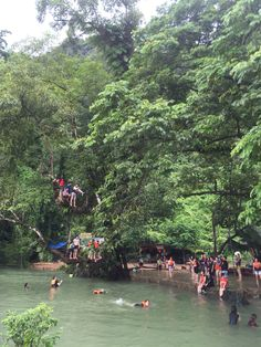 Vang Vieng in Laos. Blue Lagoon!
