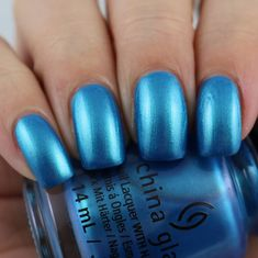 China Glaze Mer-Made For Bluer Waters swatched by Olivia Jade Nails Beauty Nails, Beauty Makeup, Jade Nails, Olivia Jade, Talk To The Hand, Simple Girl, China Glaze, Swatch, Nail Designs