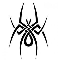 Disegno-tatuaggio-ragno-tribale.jpg (437×447)