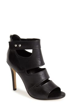 Trouve Cutout Leather Bootie (Women) by Trouve on @nordstrom_rack