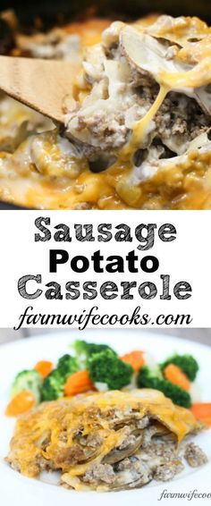 Sausage Potato Casserole Are you looking for a great tried-and-true recipe that will have your whole family running to the dinner table? This Crock Pot Sausage Potato Casserole recipe will quickly become a family favorite. Sausage Crockpot, Sausage Recipes, Pork Recipes, Easy Recipes, Delicious Recipes, Recipies, Aloo Recipes, Dinner Crockpot, Yummy Food