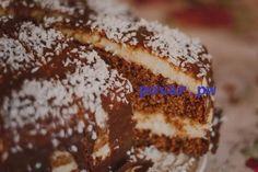 """Торт """"Баунти""""   Ингредиенты:  Тесто: ● 250 г масла или маргарина ● 200 г сахара ● 200 г муки ● 2-2,5 ч. л. разрыхлителя ● 4 ст .л. молока ● 3 ст. л. какао ● 4 яйца  Крем (начинка): ● 200 г кокосовой стружки ● 6 ст. л. манки ● 0,5 л молока ● 200 г слив. масла ● 200 г сахара  Глазурь: ● 200 г молочного шоколада ● кусочек масла (~20-30 г) ● при необходимости молоко  Приготовление:  1. Тесто. Яйца взбить с сахаром до пышности. 2. Просеять сюда же муку и разрыхлитель, взбить. 3. Масло растопить…"""