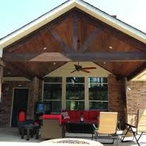 Image result for post and beam patio roof