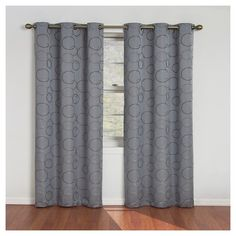 Eclipse Thermaback Meridian Blackout Window Curtain Panel - River Blue