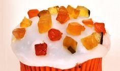 Cupcake de panetone e frutas secas