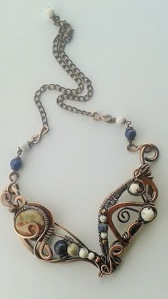 Copper necklaceHandmade copper wire necklace with by Tangledworld
