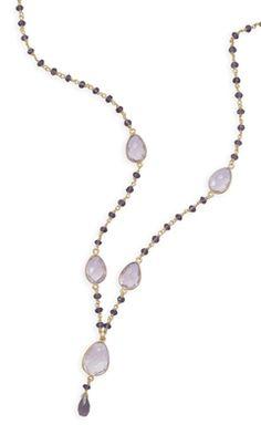 "18"" 14 Karat Gold Plated Amethyst Necklace"