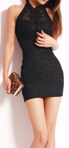 Black Sheath Mini | Dress.   dresslily.com