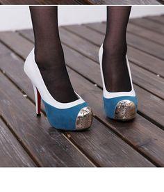 zapato de tacón de estilo elegante tacones altas de color blanco