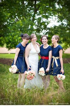 Jennifer and Amine's wedding. Love the different belts on the bridesmaid dresses. Millie Holloman Photography Blog