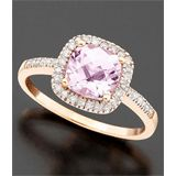 Rose Gold, Pink Amethyst, & Diamond Ring