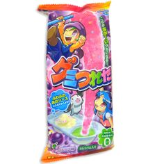 Ever wanted to try one of the original  most fun Kracie Kits? Tsureta Gummy Kits are back for 2014! This awesome Japanese candy kit let's you make a big string of gummy candy as if from nowhere. Magic!  Available in Ramune  Grape flavors on OyatsuCafe.com