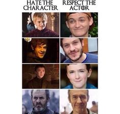 Hate the character, respect the actor
