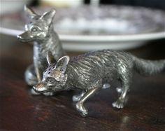Fox Salt and Pepper Shakers