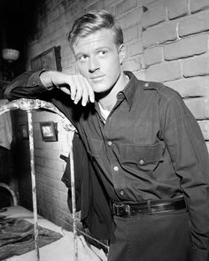 "Robert Redford - I know this set/costume well: It's from his television debut, in the Twilight Zone - ""Nothing in the Dark."" He was Death."