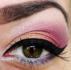 warm colors in eye makeup