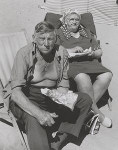 Chris Killip 'Couple eating fish and chips, Whitley Bay, Tyneside' 1976, printed 2010