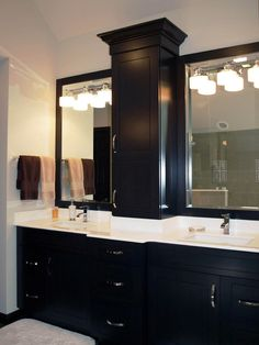 Master Bathroom Design, Pictures, Remodel, Decor and Ideas - page 6 black vanity