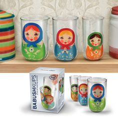 idealstore: FRED BABUSH KUPS and Fred matryoshka glass 3 P set ( cute matryoshka motif Grasset ) - Purchase now to accumulate reedemable points! Cool Gifts, Unique Gifts, Cute Cups, Matryoshka Doll, Whimsical, Dolls, Cool Stuff, Random Stuff, Fun